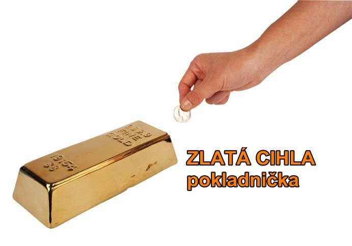 Sparbüchse, Sparbüchse für Kinder Goldziegel