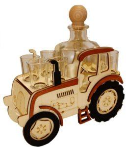 Geschenk Traktoren, Flaschen und Gläser