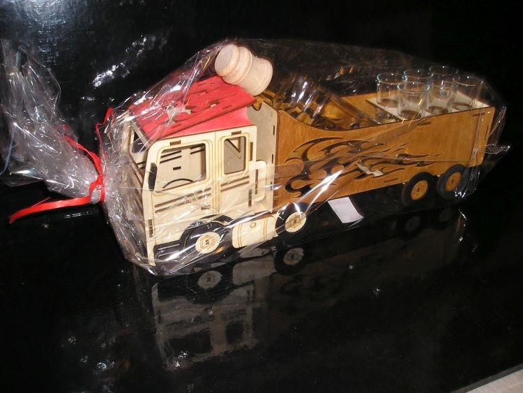 Geschenkflasche für LKW-Fahrer Geburtstags Flasche