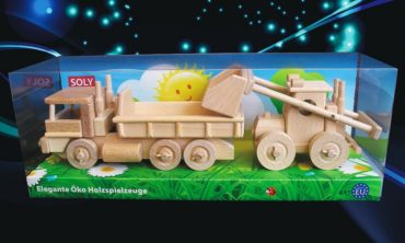 Holz-LKW und Bulldozer Spielzeug