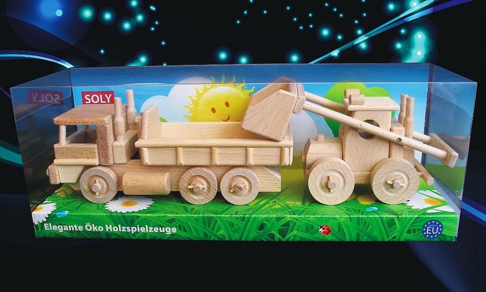 Kinder-spielzeug-bagger-holzspielzeug-modell