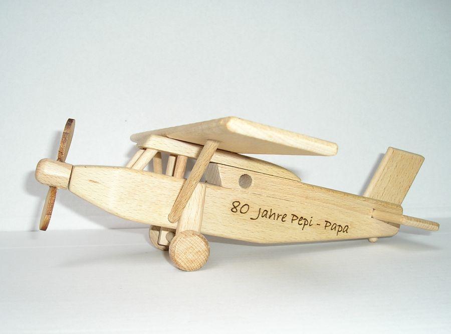 Holz Flugzeug Typ Pilatus Holzspielzeug Geschenke für Piloten