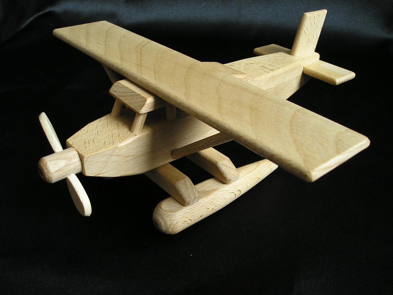 Wasserflugzeug – Holz-flugzeug Holzspielzeug Geschenke für Piloten