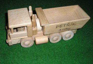 Tatra Lastwagen und Bulldozer aus Holz aus Holzspielzeug