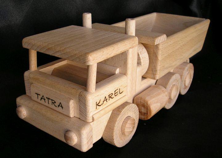 Tatra Lastwagen und Holz Bulldozer Holzspielzeug