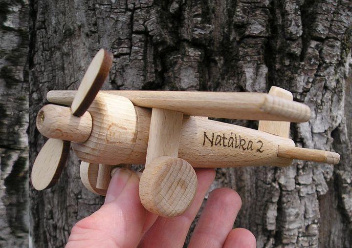 Kinderflugzeug Spielzeug  aus Holz – Holzspielzeug