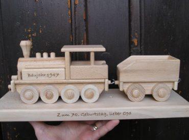 Dampflokomotive, Zuggeschenk