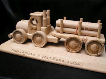 Wald-LKW, LKW, Holz-Spielzeug-LKW