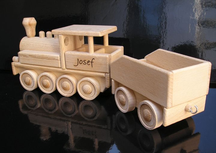 Lok, Lokomotiven, Züge, Holz, Spielzeug, für Kinder