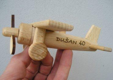 Holzflugzeugdeckflugzeug Holzspielzeug