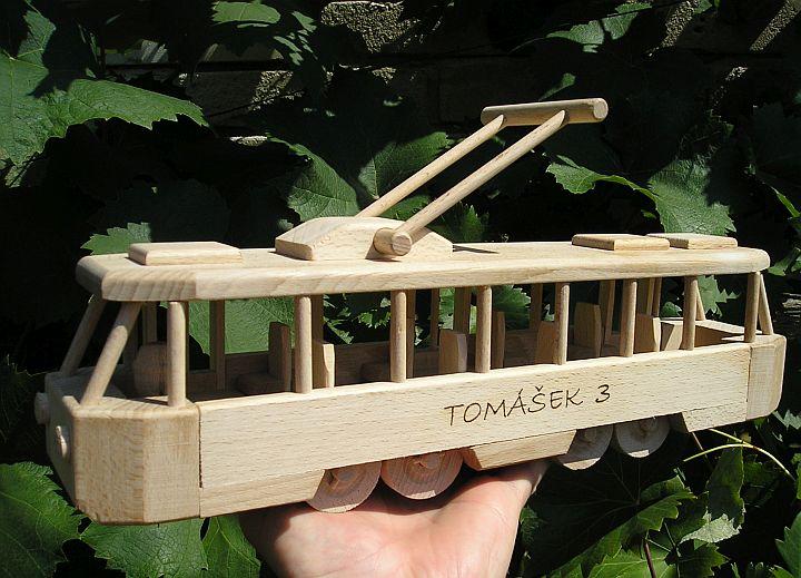 Holzspielzeug Straßenbahn Holzgeschenke