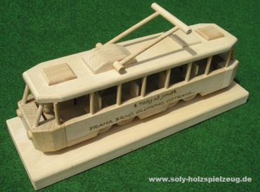 Holzgeschenke für Fahrer, hölzernes Straßenbahnspielzeug