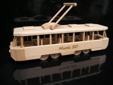 Straßenbahn Spielzeug hölzerne Firmengeschenke Holzspielzeug Modell