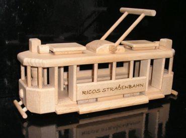 Holzgeschenke für Fahrer, Straßenbahn Holzspielzeug