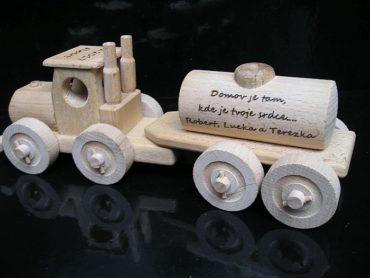Tank, Holzlastwagen Holzspielzeug