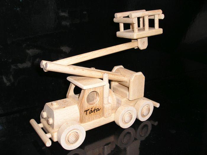 Holzspielzeug, Autoplattform und Doppeldecker, Flugzeug