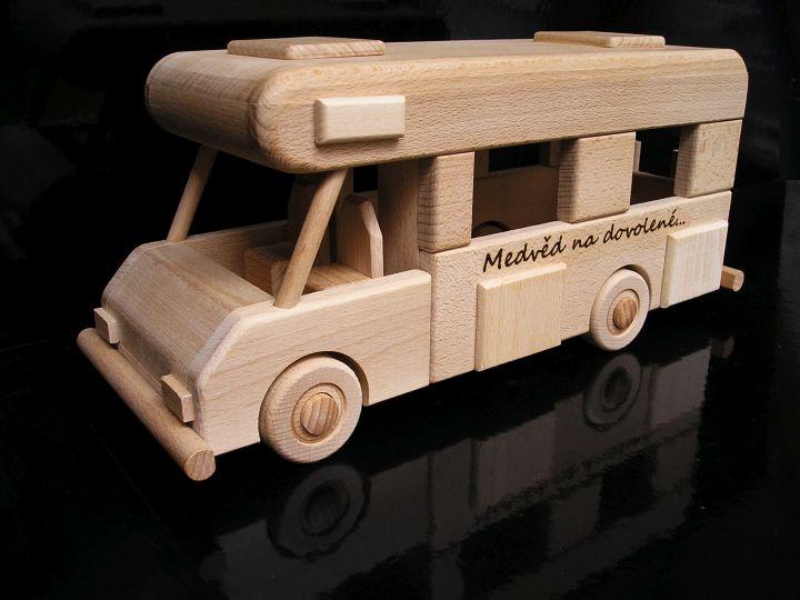 Wohnwagen, Holzgeschenk, mobiles Modell, Spielzeug, Hochzeitsgeschenk