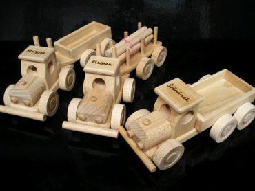 Kinder LKW Holzspielzeug Auto + LKW Holzspielzeug Geschenke für Fahrer