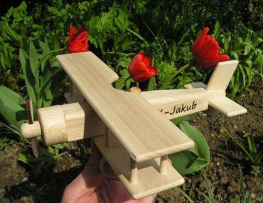 Holzflugzeug, Spielzeug für Kinder, Flugzeuge, Spielzeug