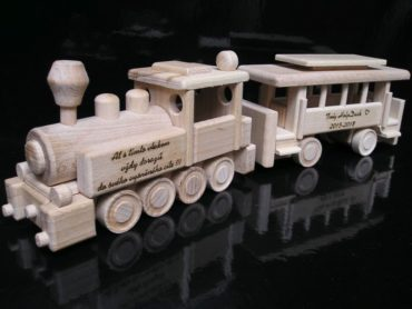 Holzspielzeugzüge für Jungen