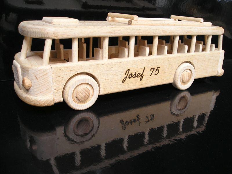 Geschenk für Busfahrer, Holzspielzeugbus