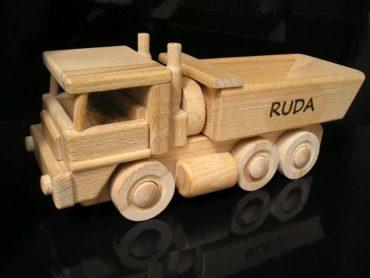 Tatra-Lastwagen und Bulldozer von Holz Holzspielzeug