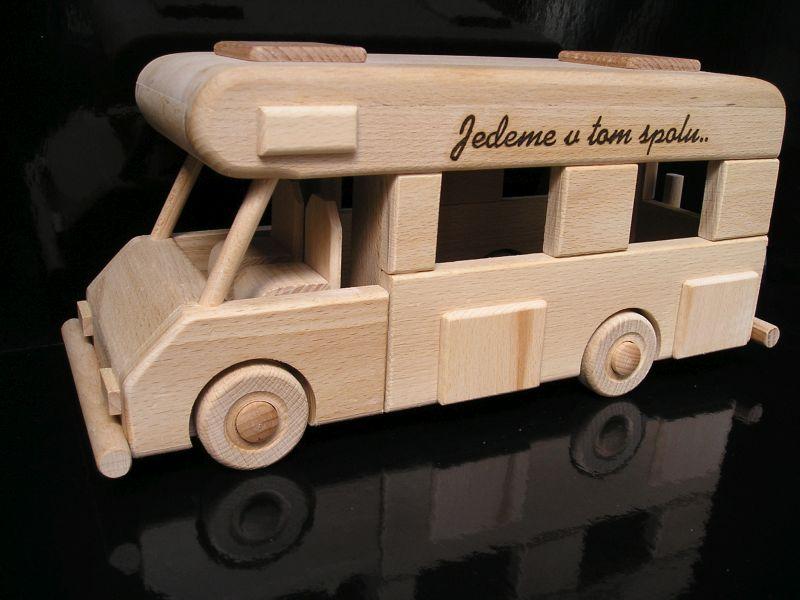 Wohnwagen, Holzgeschenk, mobiles Modell, Spielzeug