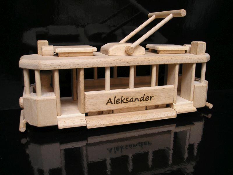 Historische Straßenbahn Holzspielzeug Geschenke für Straßenbahnfahrer