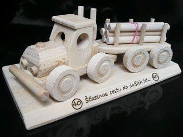 Wald-LKW, Holz-Spielzeug-LKW