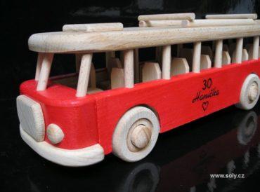 RTO-Bus Holzspielzeug, Holzgeschenk, rot