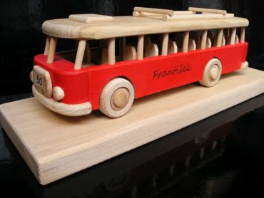 Holzgeschenk, Bus Spielzeugbus