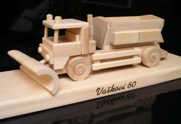 Spreader Schneepflug Ausbreitungswagen Holzspielzeug Geschenk