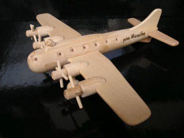 Boeing Holzflugzeug, Holzspielzeug Geschenk