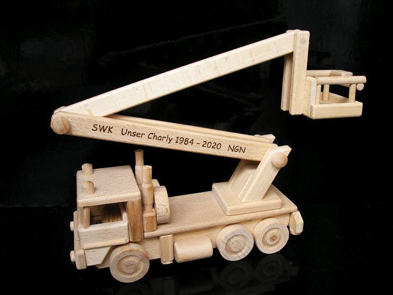Hebebühnen Holzspielzeug Geschenke für Fahrer