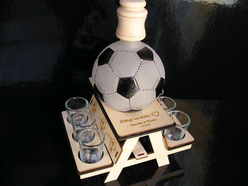 Fußballspieler Geschenkflasche Glas für Alkohol Fußball