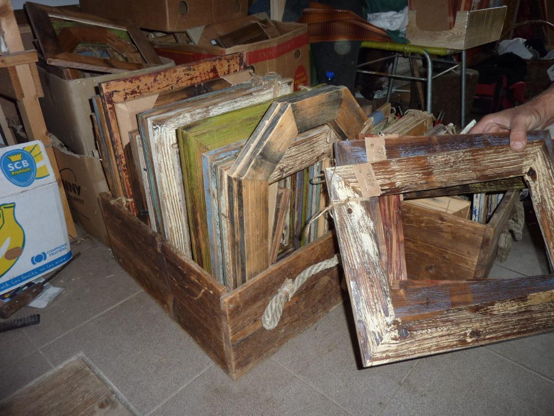 Retro Holzrahmen für Bilder und Fotos, Fotorahmen, Rahmen, Fotorahmen, Natur, weiß, blau, grün