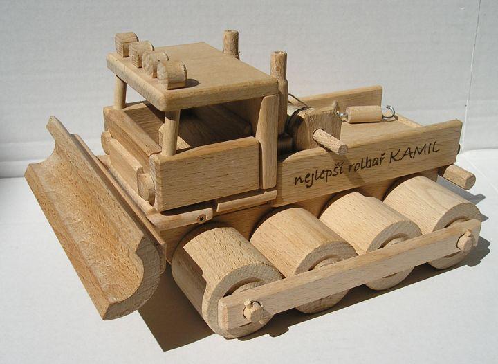 Pistenraupe Spielzeuge. Holzspielzeug für Väter oder Jungen