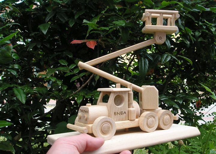 LKW-Plattform Spielzeugauto Holzspielzeug für Kinder