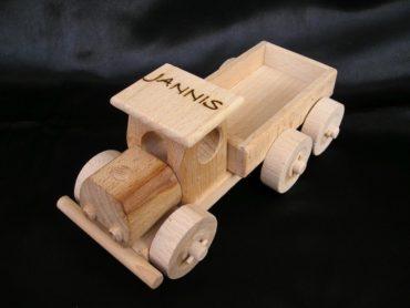 Holzlastwagen LKW und Flugzeug Spielzeug