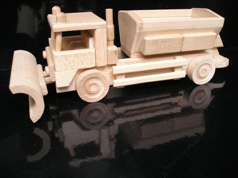 Spreader Schneepflug Ausbreitungswagen Holzspielzeug ein Geschenk