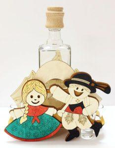 Hochzeitsgeschenk Flasche Tänzer