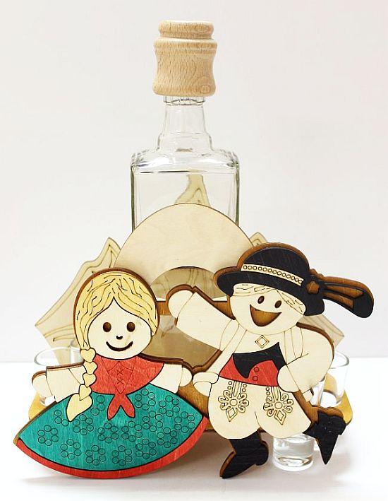 Hochzeit Geschenkflasche Tänzer