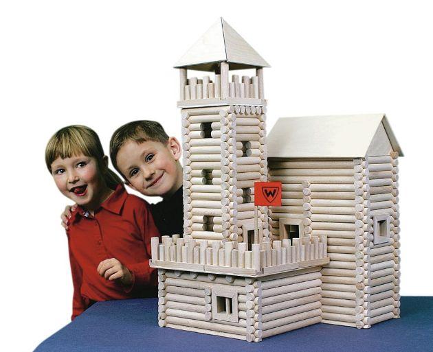 Holzset für Kinder Häuschen