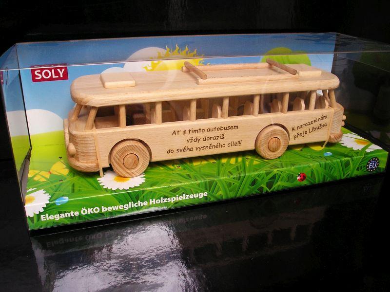 Holzgeschenke, Bus für Busfahrer und Angestellte von Transportunternehmen.