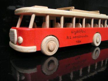 Holzbus, bus rot Geschenke für den Fahrer, Geschenke