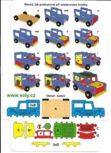 Riesiges Auto Kit Jeep Offroad, großes Schaumspielzeug