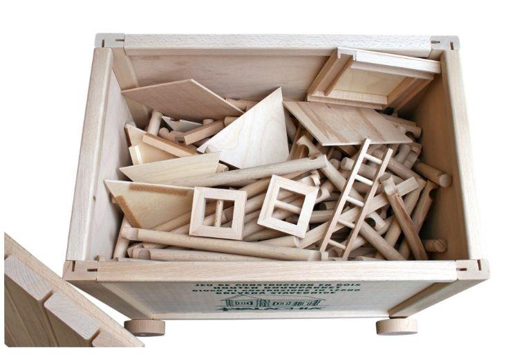 XXXL 450 Stück, Holzset für Kinder Häuschen, Haus, Häuschen, Gebäude