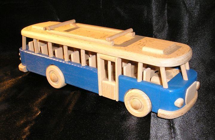 blau-Bus-Spielzeug-Geschenk