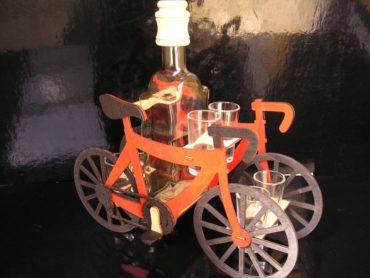 Geschenke für Radfahrer Flasche, Glas, Glasgeschenke Fahrrad