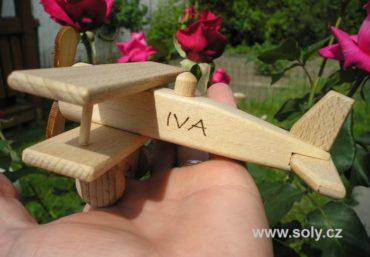 kleines Flugzeug, Holzflugzeug Spielzeug